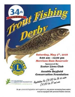 Annual Trout Fishing Derby Poster